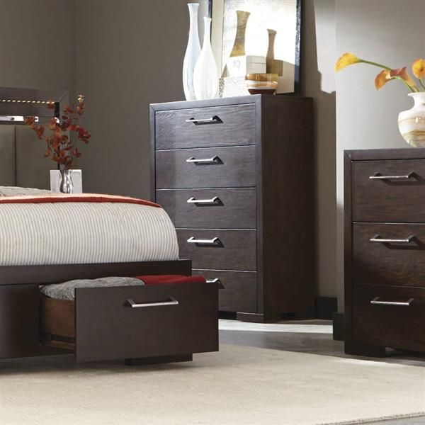 Coaster Furniture Berkshire 5 Drawer Chest   The Coaster Furniture Berkshire  5 Drawer Chest Is The Perfect Transitional Piece With Its Clean Lines And  Bold ...