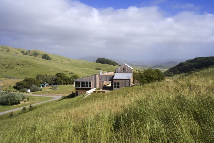 West Marin home for gathering family members, designed to be net zero - West Marin Ranch, Turnbull Griffin Haesloop Architects