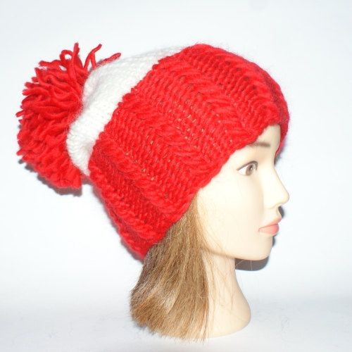 slouchy beanie novelty hat Irish knit hat red and by #Johannahats, $35.00