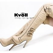 $31.49 Kvoll shoes wholesale high boots for women  Apricot