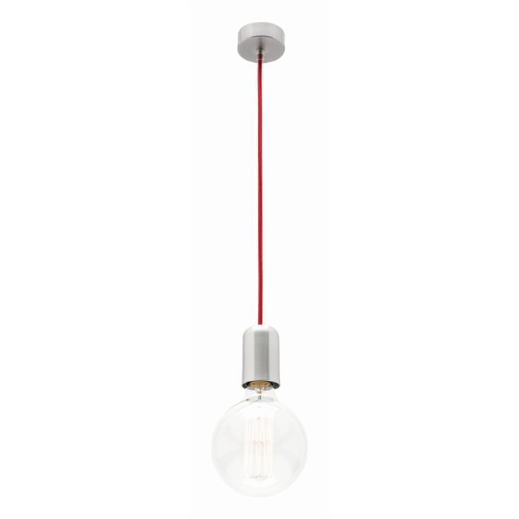 Mercator 240V 1 Light Red Cordset Dream Pendant Light I/N