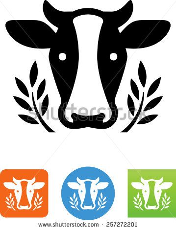 Dairy cow. Vector icons for video, mobile apps, Web sites and print projects. - stock vector