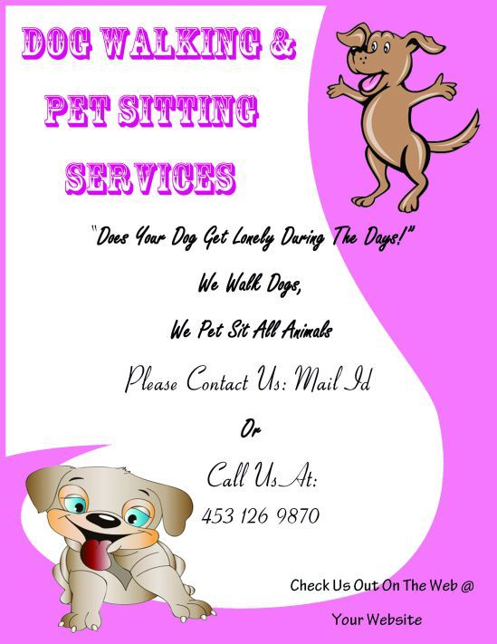 25 best Dog walking flyer certificate images on Pinterest - best of pet health certificate template
