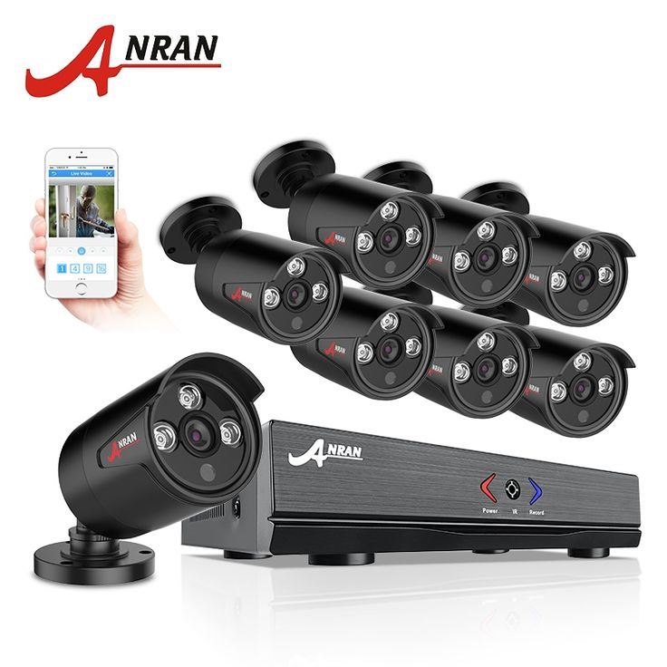 205.39$  Know more  - ANRAN 8CH Security Camera System AHD 1080N HDMI DVR 720P 1800TVL IR Outdoor Camera Home Video Surveillance Kits Email Alert