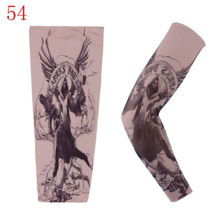 1 pc Man Tattoo Arm Warmers Fashion Punk UV Tamporary Tema Tatuagem Falsa Mangas Aquecedores Elasticity Tattoo Oversleeve