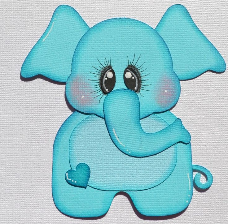Baby Boy Elephant, Paper Piecing for Premade Scrapbook Page Layout Album