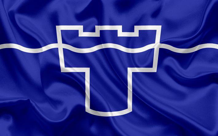 Scarica sfondi Contea di Tyne and Wear Bandiera, Inghilterra, bandiere delle contee inglesi, Bandiera del Tyne and Wear (Contea Inglesi, Bandiere, bandiera di seta, Tyne and Wear