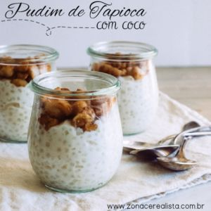 PUDIM DE TAPIOCA COM COCO