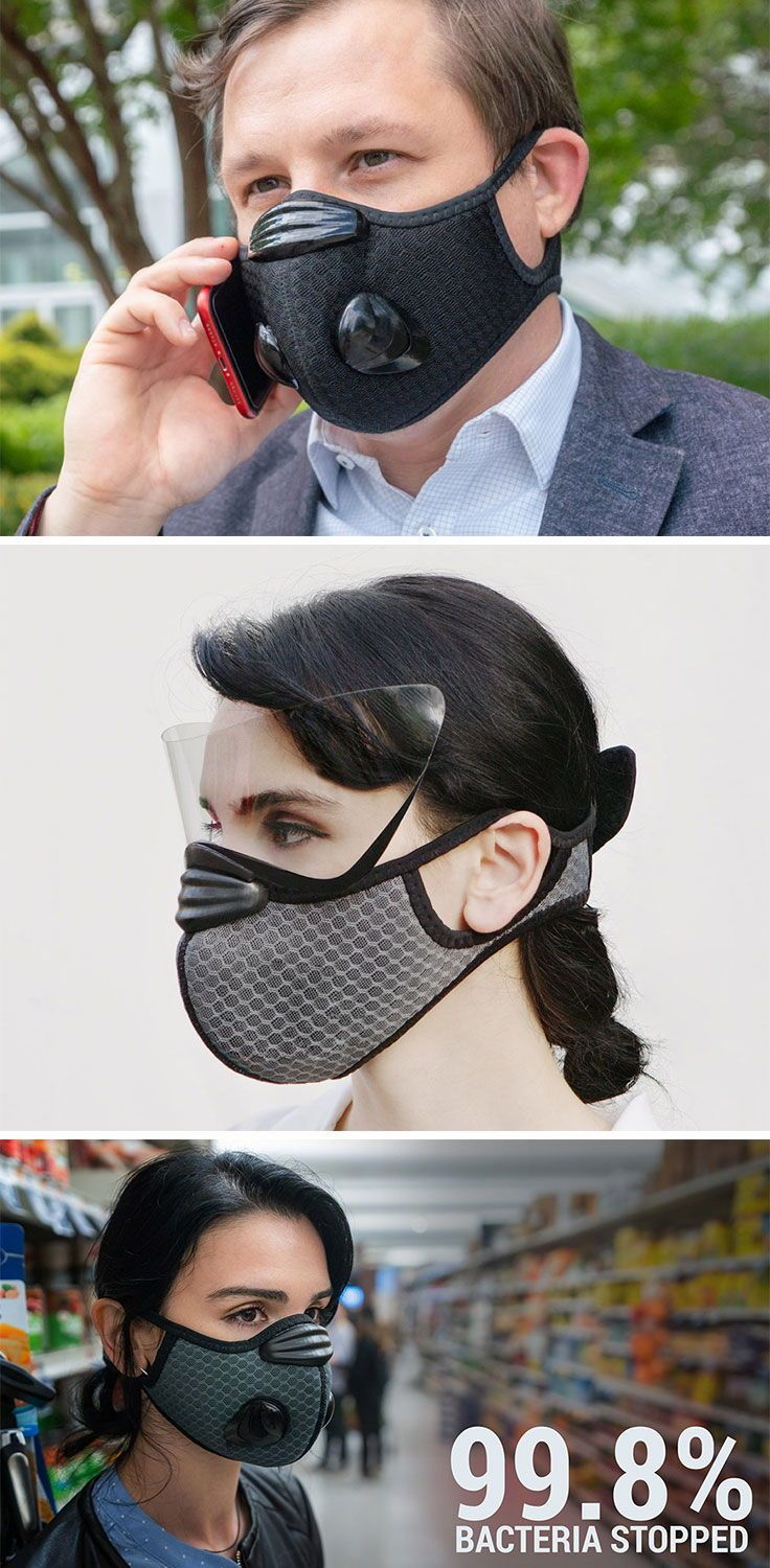 This Reusable Face Mask With Magnetic Face Shield Is Designed To Keep You Safe Mask Cool Technology Reusable Face Mask