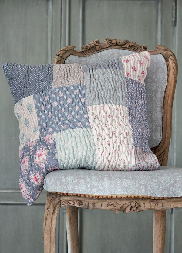 Tilda Sweet Christmas Quilted Patchwork Cushion Pillow / via Heart Handmade
