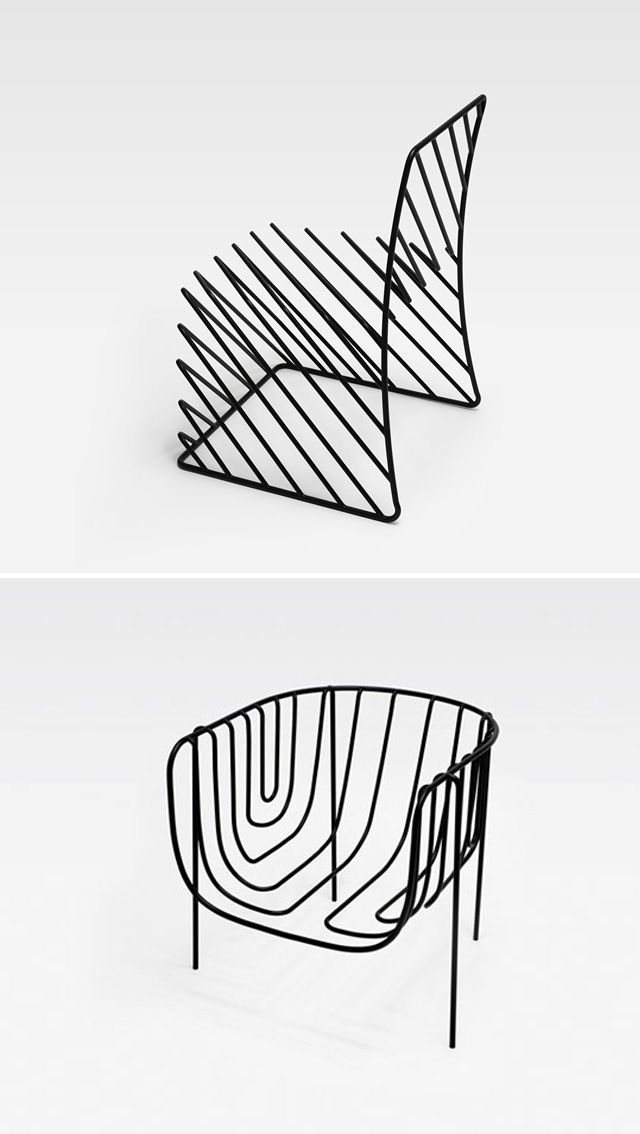 Chairs by Nendo: Design Industrial, Modern Chairs, Nendo Chairs, Wire Chairs, Furniture Design, Cool Design, Metals Chairs, Cool Chairs, Chairs Design