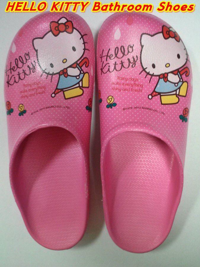"Hello Kitty Bathroom Shoes ""FREE SIZE"""