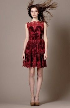 Short Lace Dress by Zarucci from the Fall/Winter 2015 Collection.  www.pinktiger.com