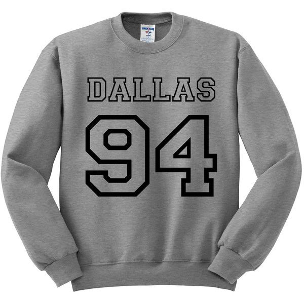 Grey Crewneck Jersey Numbers Cameron Dallas Sweatshirt Gray Sweater... ($18) ❤ liked on Polyvore featuring tops, crewneck pullover, sweater pullover, grey top, jersey tops and crew neck pullover