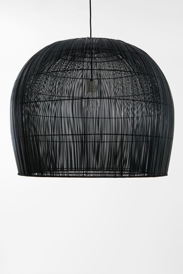 Buri Bell Large Black woven pendant light | Ay Illuminate