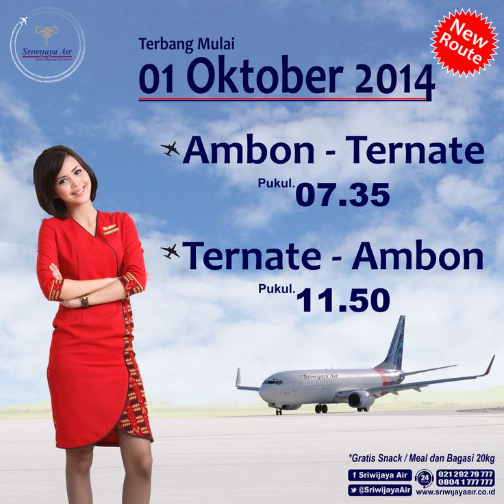 New Route!! Will effective 1 October 2014. Join us? #SriwijayaAir
