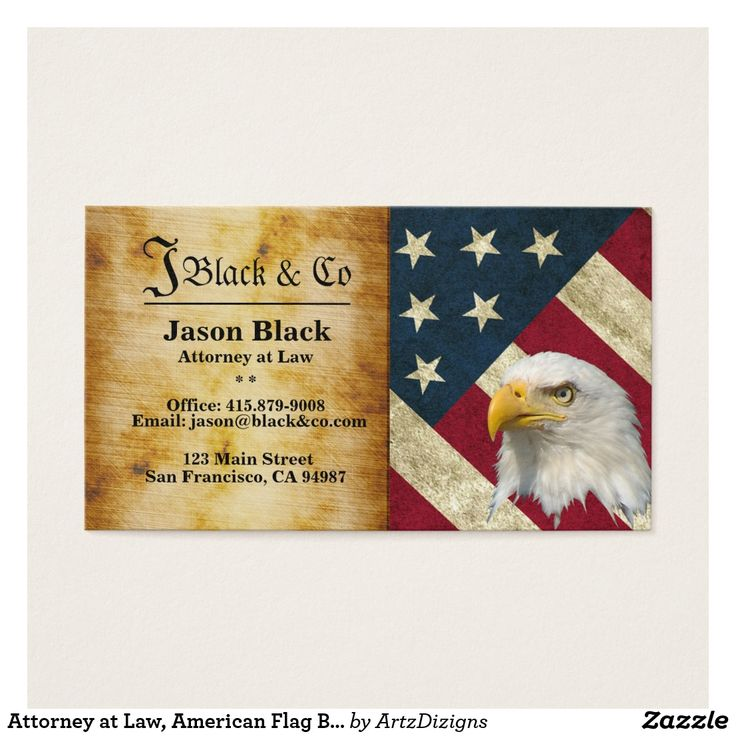 Attorney at Law, American Flag Business Cards http://www.zazzle ...