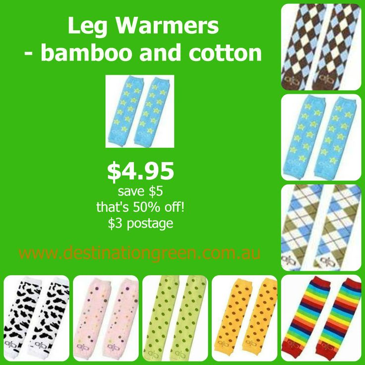 Baby Leg Warmers, bamboo and cotton - (RRP $9.95), $4.95 #legwarmers #leggings #babylegs