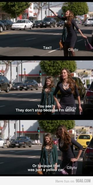 """""""They don't stop because I'm Latina.."""" ~ Modern Family Quotes ~ #modernfamily #modernfamilyquotes"""
