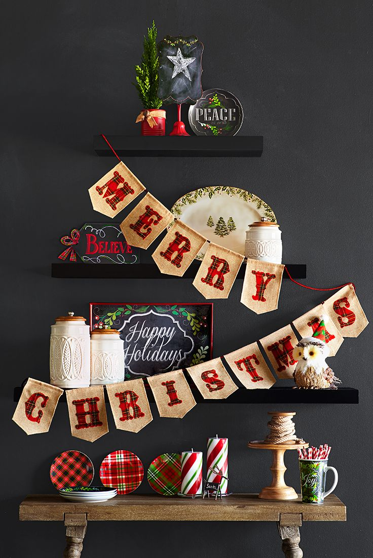 If you want people to know how you really feel about Christmas, sometimes you have to spell it out. Pier 1 has lots of ways to say it—like our Merry Christmas Burlap Banner. Big enough to stand out but compact enough for a doorway, mantel or shelf, this may be the first piece of holiday cheer you display year after year.