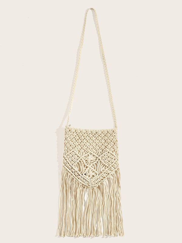 652f6979408 Fringe Hem Crochet Crossbody Bag