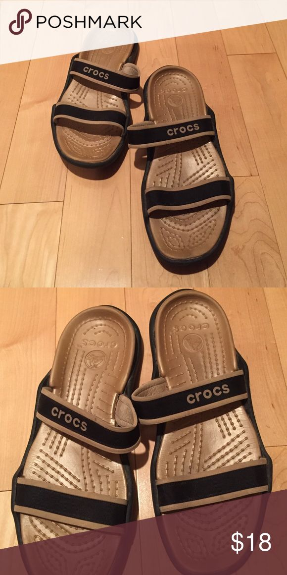 Women's crocs Black and gold Croc sandals. Feel free to make an offer! CROCS Shoes Sandals