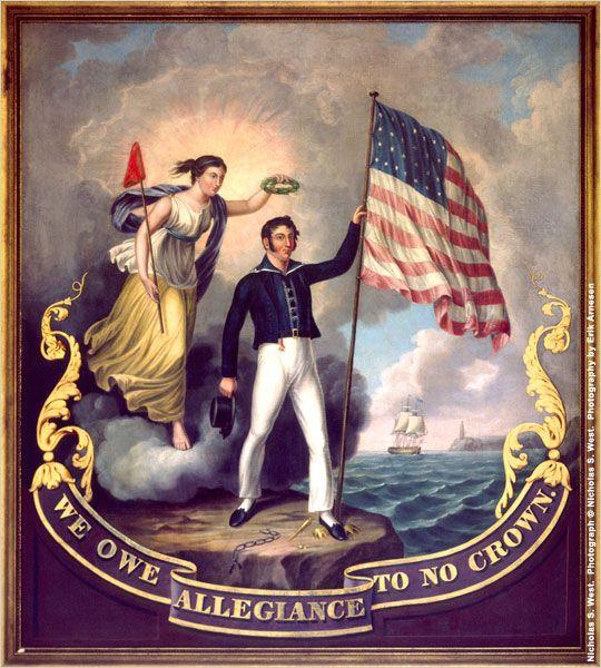 Pintura al óleo celebra la independencia estadounidense de Gran Bretaña (Nicholas S. West. Photograph © Nicholas S. West. Fotografía de Erik Arnesen)