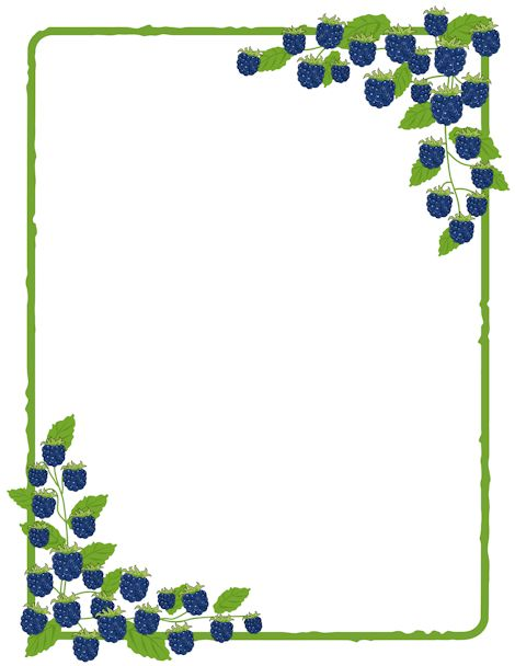 Free Blackberry Border Templates Including Printable Border Paper And Clip  Art Versions. File Formats Include GIF, JPG, PDF, And PNG.