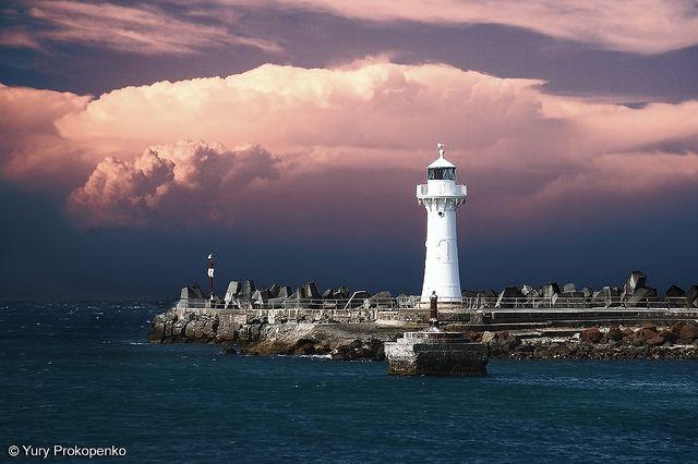 Wollongong Breakwater Lighthouse, Australia.