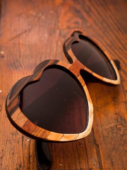 {Lolita Ombre Wood Veneer Sunglasses} by Tumbleweeds
