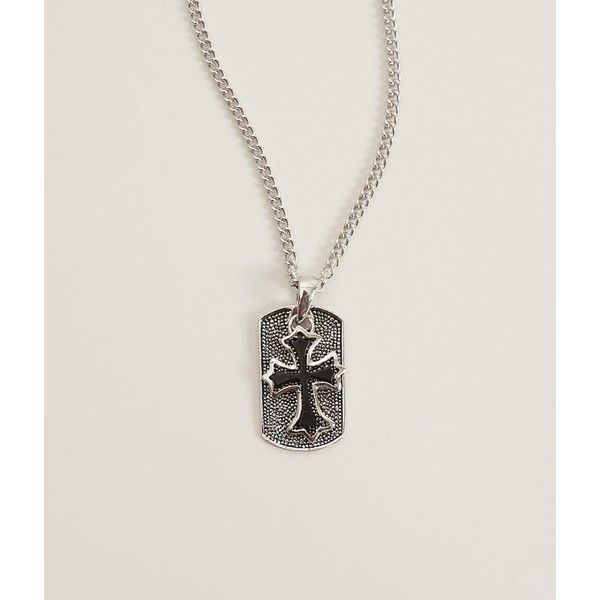 BKE Cross Necklace ($13) ❤ liked on Polyvore featuring men's fashion, men's jewelry, men's necklaces, silver, mens silver cross necklace, mens silver crucifix necklace, mens cross necklace, mens crucifix necklace and mens silver necklace