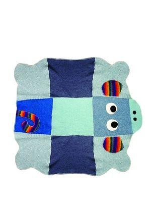 36% OFF Cate & Levi Monkey Baby Blanket, Dark Blue/Light Blue