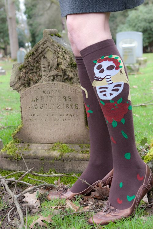Socks for Dia De Los Muertos - getting this photo involved a little field trip. I think it turned out great! $8