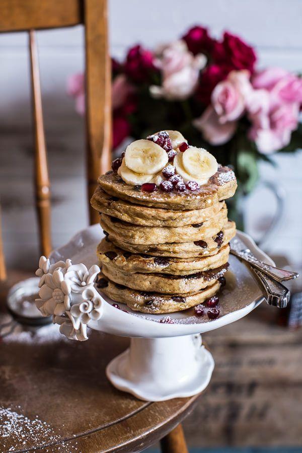 Ricotta Chocolate Chip Banana and Chia Pancakes