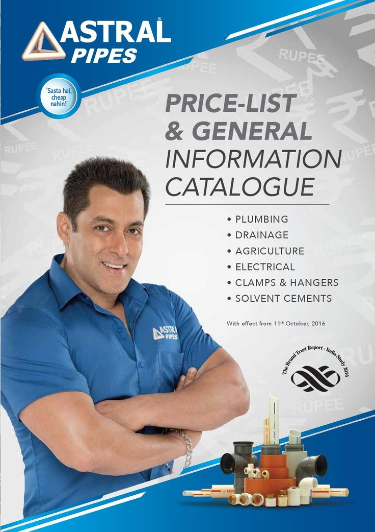 Browse the latest product catalogues like PVC Pipes, Fittings Pipes and Astral Poly Technik of branded company Astral Pipes