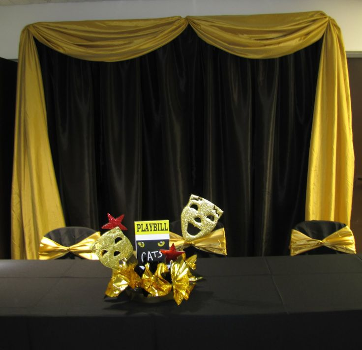 Broadway Themed Centerpieces | Party People Celebration Company - Special Event Decor Custom Balloon ...