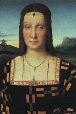 "Elizabetta Gonzaga, duquesa de Urbino. Obra de Rafael. [1471-1526]. cuñada de Isabella d"" Este."