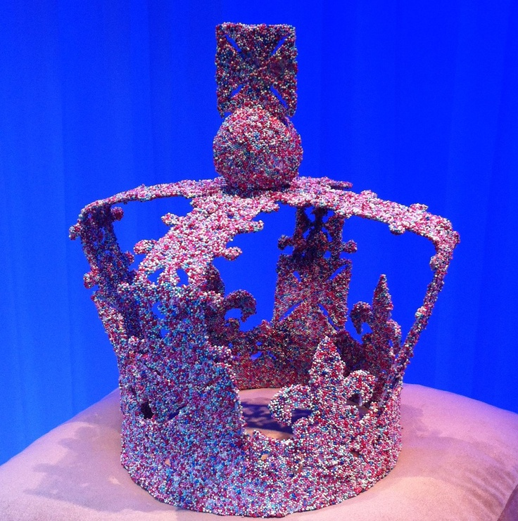 Our base Jubilee crown finished by Mulberry on display in Harrods windows!