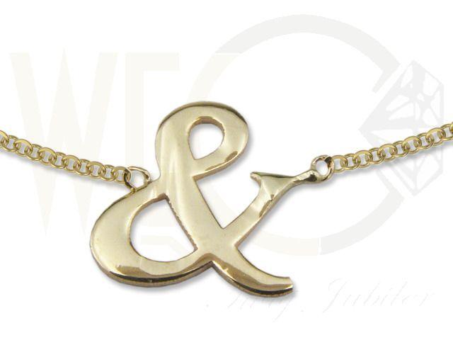 Naszyjnik ze złota - celebrytka z motywem And./ 337 PLN/ Gold necklace - a celebrity with a motif of And.