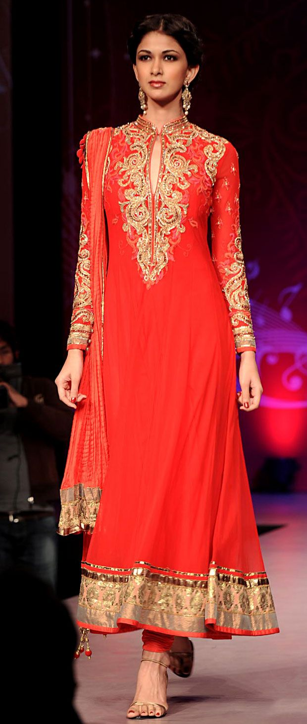 Buy online red and gold wedding anarkali suit