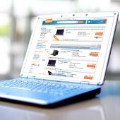 Ceneo w przeglądarce internetowej na laptopie