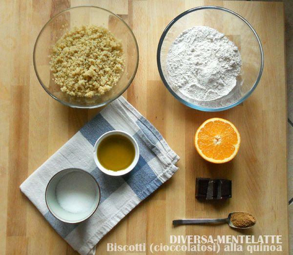 Biscotti con quinoa e cioccolato