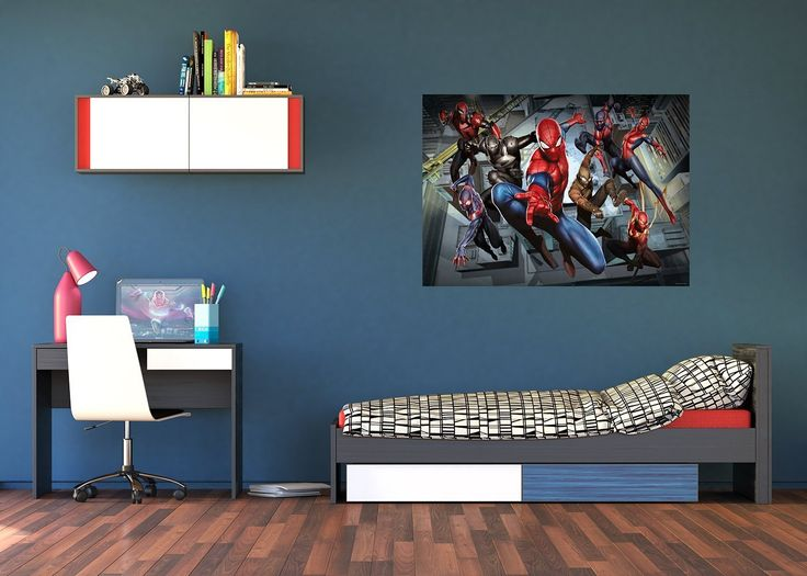 """WallandMore Marvel Spiderman Wall Decals Murals For Kids Bedroom 63"""" W by 45"""" H - Superhero Wall Decals - Kids Murals - Bedroom Wall Decals For Boys - Avengers Wall Decals. WallandMore Spiderman wall decals murals will transform the total look and atmosphere of your kid's room! General information: Made of Eco friendly and Non toxic materials Durable & top quality Special blue back paper Size by Inches: 63"""" W by 45"""" H 100% satisfaction guarantee We believe that with WallandMore's…"""