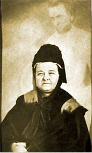 Mary Todd Lincoln férje szellemével 1870-75