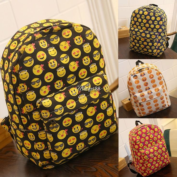 Women Bags Backpack Girl School Fashion Emoji Shoulder Bag Travel Bags  Utar