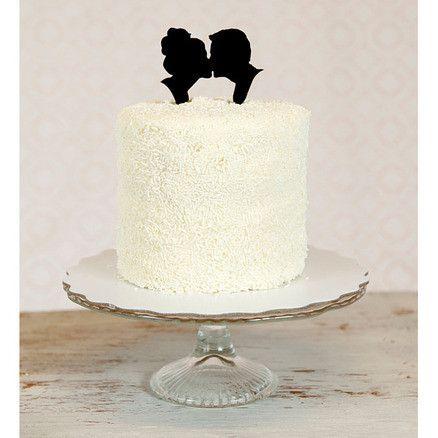 Acryl taarttopper met silhouetten
