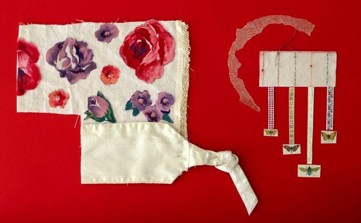 Collage textil. Kimono Alejandra Correa www.ale-correa.com
