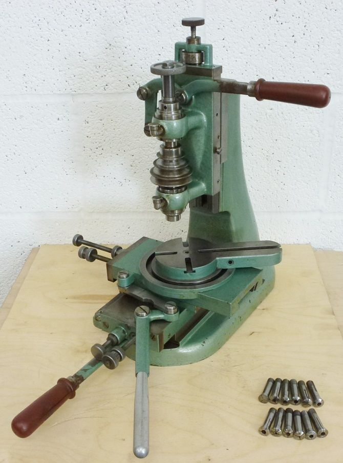 HAUSER VERTICAL MILLER A very clean example of this production miller that was used extensively in the clock and watch industry as well as instrument making. Made to very high standards  these mach…