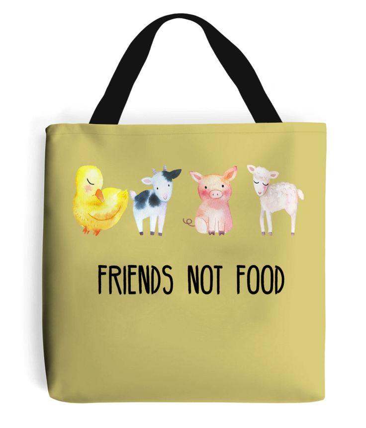 Tote Bag Friends Not Food