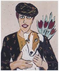 Woman with dog - Charlotte Mutsaers